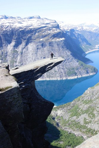 views from the Trolltunga summit - costs of travel in Scandinavia