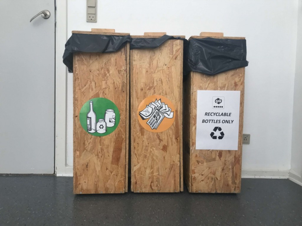 Suitcase Six Recycling-Bins-1024x768 Globalhagen Hostel: A Top Choice in Copenhagen for Sustainable Travelers
