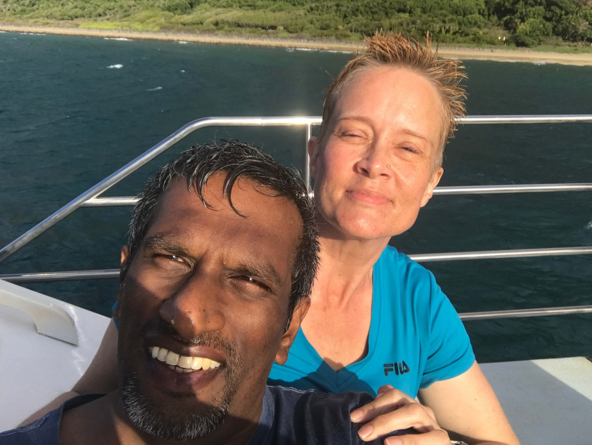 Suitcase Six Linn-with-friend-on-boat WOMAN OF THE WEEK: INTERVIEW WITH A LIFE COACH
