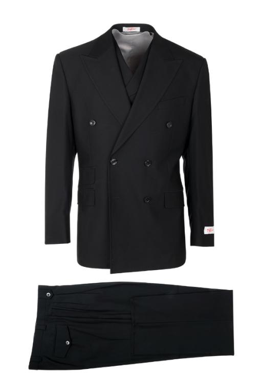 EST TIG1001, Pure Wool, Wide Leg Suit & Vest by Tiglio Rosso