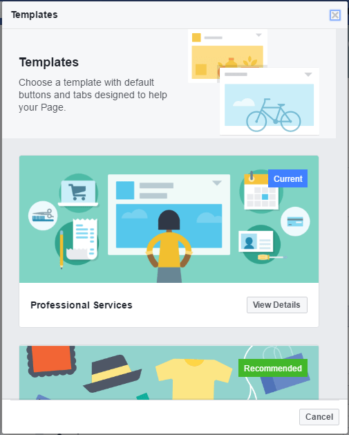 Discover Facebook's New Business Page Templates - Suite 4