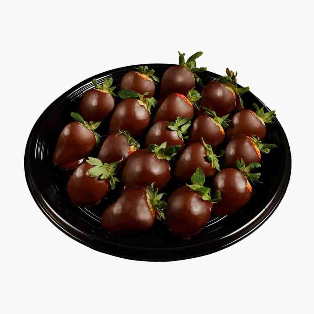 chocolate covered strawberries platter