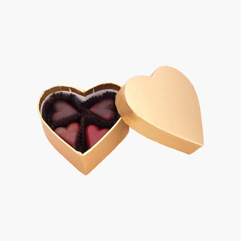 gold heart-shaped box