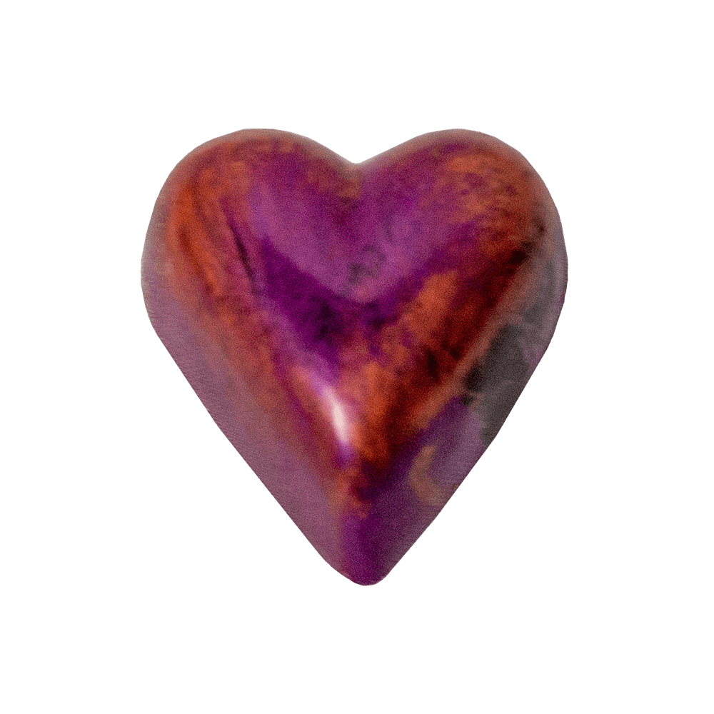 copper and pink heart