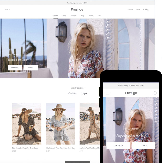 Shopify Plus Desktop and Mobile Image
