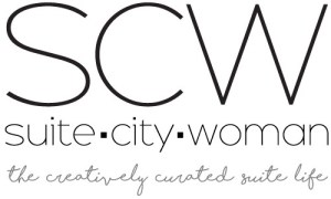 Suite City Woman logo and tagline: the creatively curated suite life