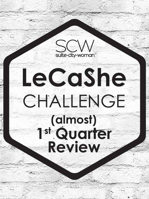 LeCaShe logo with words (almost) 1st Quarter Review added