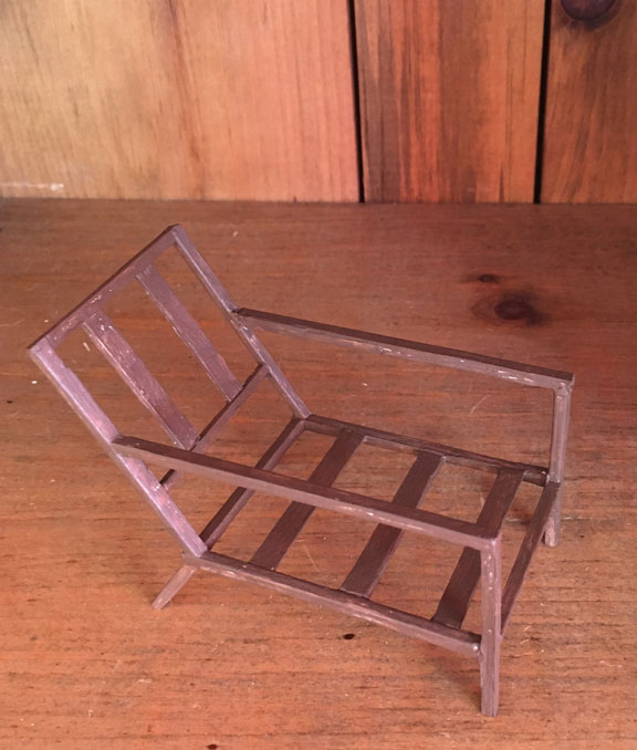 miniature mid-century moden chair frame