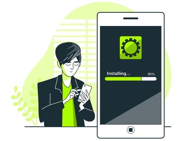 Ilustrasi Install Antivirus