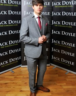 Grey Tweed Three Piece Suit With Black Trim Suit Distributors Cork