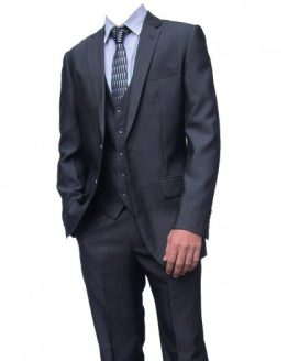 Rocky Mid-Grey Three Piece Suit Suit Distributors Cork