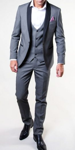 Sam Grey Three Piece Tuxedo Suit Distributors Cork