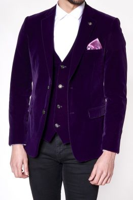 Vt2 Luxury Purple Velvet Three Piece Suit Suit Distributors Cork