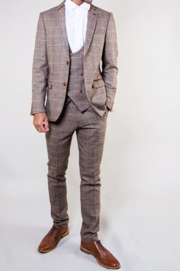 Blake Tan Tweed Three Piece Suit | Suits Distributors Cork