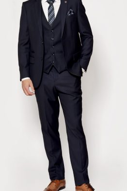 Rambo Dark Navy Three Piece Notch Lapel Suit | Suits Distributors Cork