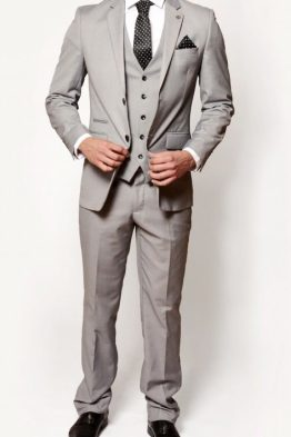 Rambo Grey Three Piece Notch Lapel Suit | Suits Distributors Cork