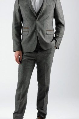 Rayford Tan Herringbone Tweed Three Piece Suit | Suits Distributors Cork