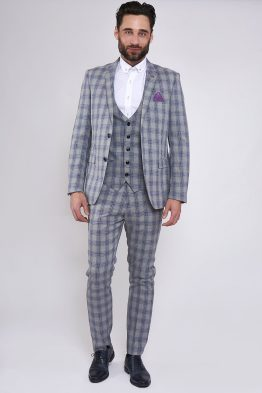 Jack Grey Check Three Piece Suit | Wedding Suits Cork | Suits Distributors