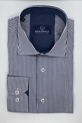 Suits Distributors - Men's Wedding Suits Cork - Jack Doyle Navy Striped Shirt 1