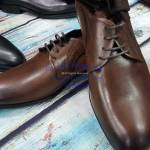 Coffee brown lace leather Shoe