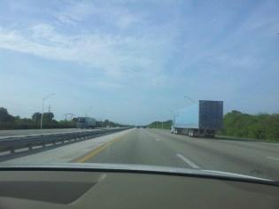On the I-95 N, West Palm Beach FL to St Augustine FL
