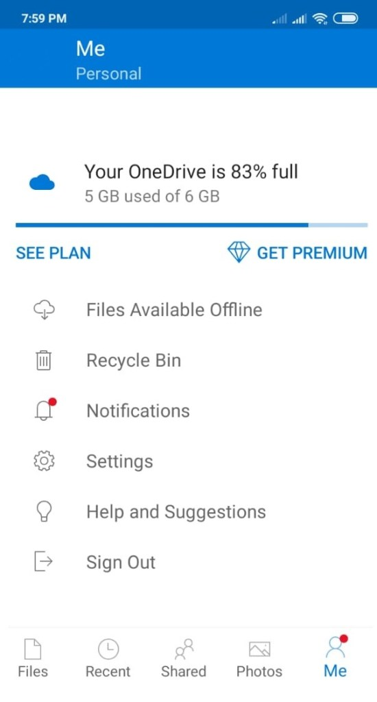 onedrive cloud storage