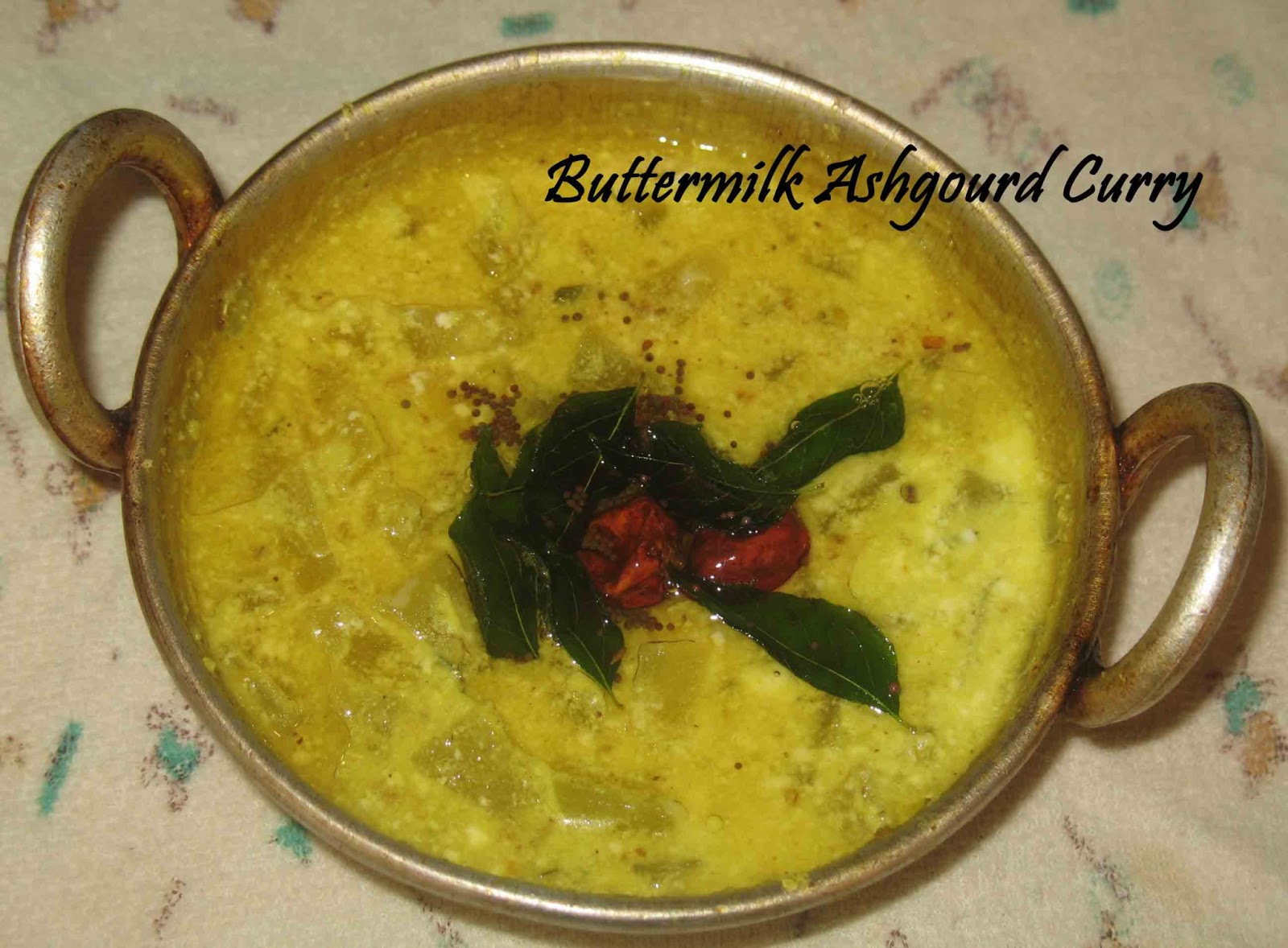 Buttermilk Ash Gourd Curry