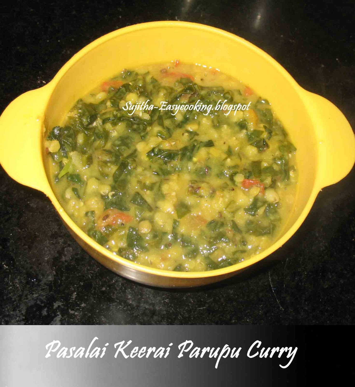 Pasalai Keerai Parupu Curry
