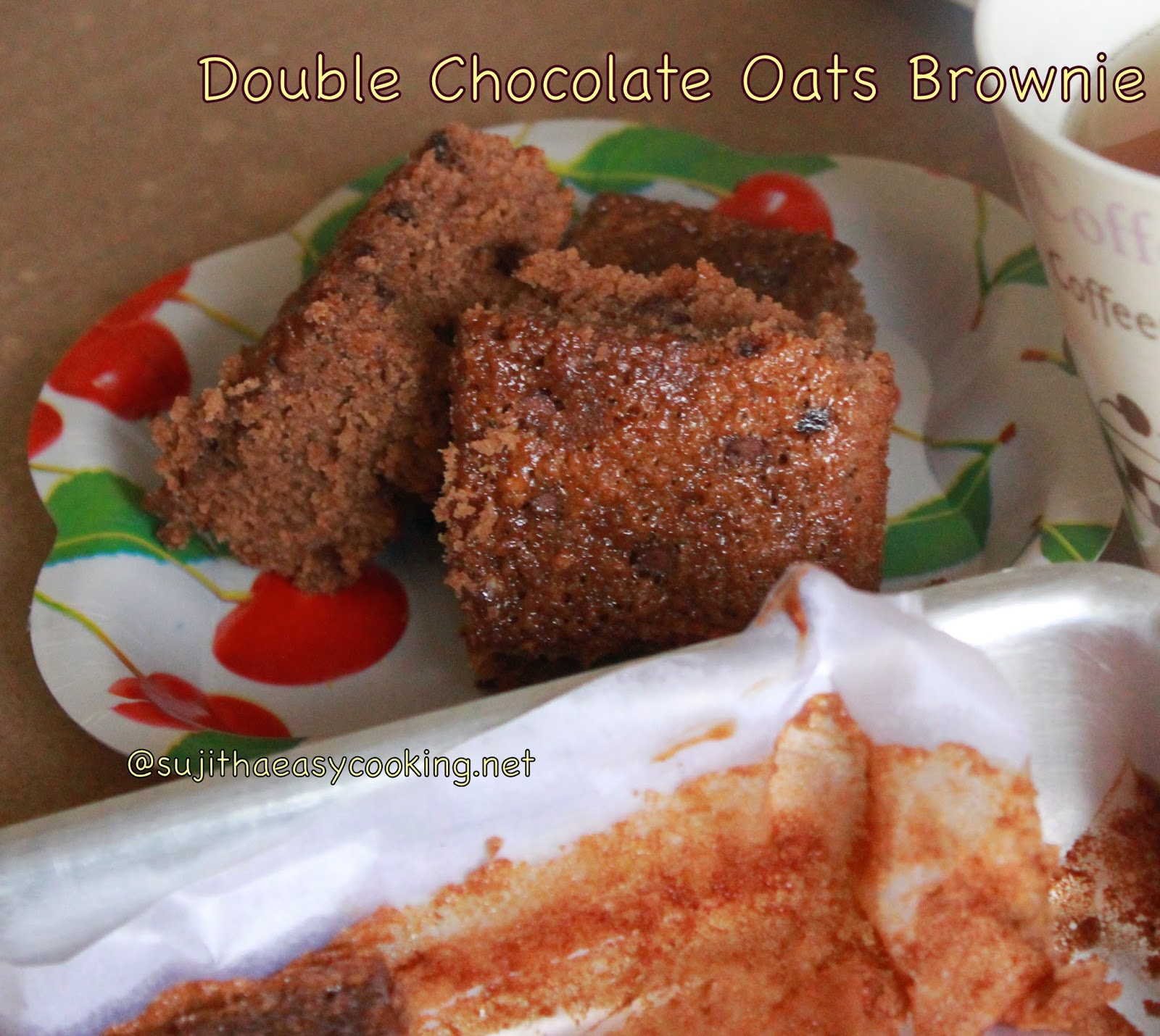 Double Chocolate Oats Brownie