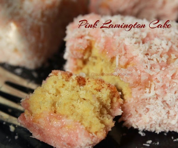 Pink Lamingtons Cake- Guest Posst For MahasLovelyHome