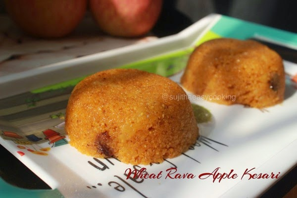 Wheat Rava Apple Kesari