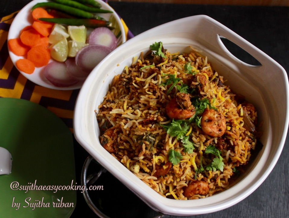Hyderabadi Prawn Biryani with Eastern Masasla
