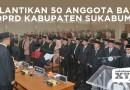 Ketua baru, satu ditunda, hingga demo mahasiswa warnai pelantikan anggota DPRD Kabupaten Sukabumi