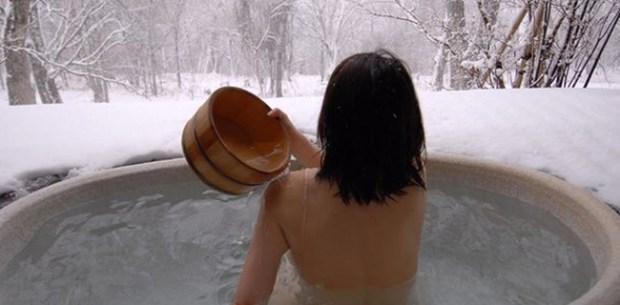 cewek jepang mandi