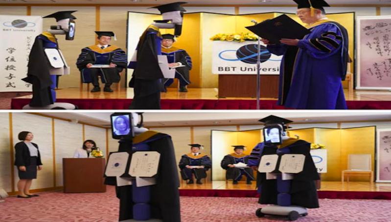 Canggih! Mahasiswa Jepang Wisuda Virtual Diwakili Robot
