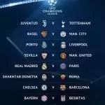 Hasil Undian Pusingan 16 Liga Juara Juara Dan Tarikh Perlawanan