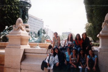 Neslihan- my friend from Turkey, me and the rest of the group at Paris