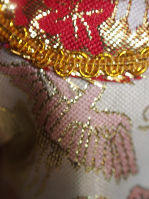 Details of a bird on the outfit