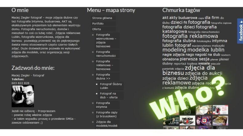 Optymalizacja strony www - WHO