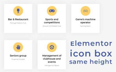 How to Get Equal Height on elementor icon box without extra plugin