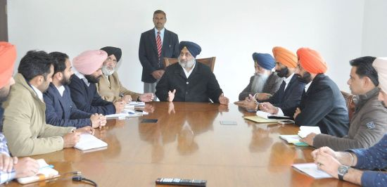 Interaction with the Leaders of YAD and SOI - Sukhbir Singh Badal (4)