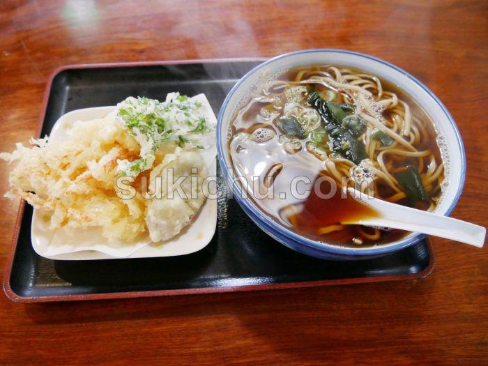 そば処ともえ川水戸野菜天ぷら温そば