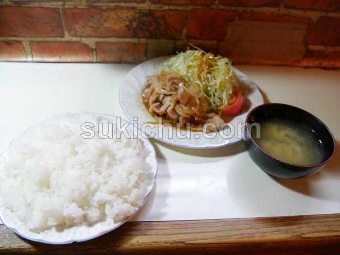 レストランピッチャーゴロ水戸生姜焼き