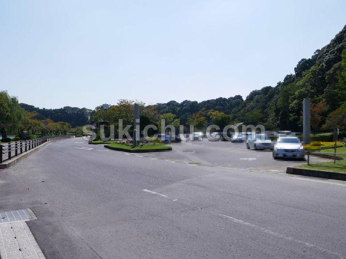 千波湖駐車場