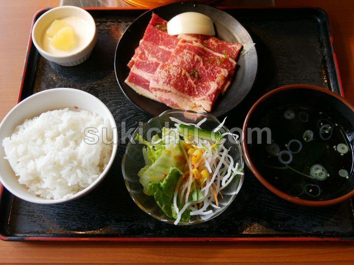 焼肉レストラン安楽亭水戸千波町店ファミリーカルビランチ