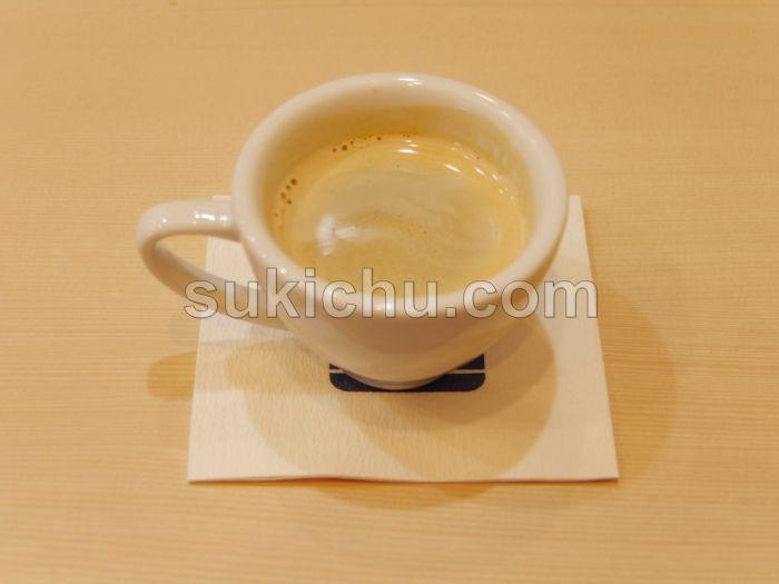 寿司ダイニング福円水戸ホットコーヒー
