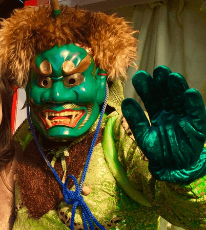 Oni for throwing beans festival in Japan