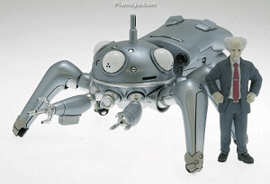 Ghost in the Shell Anime Figure Tachikoma with Daisuke Aramaki
