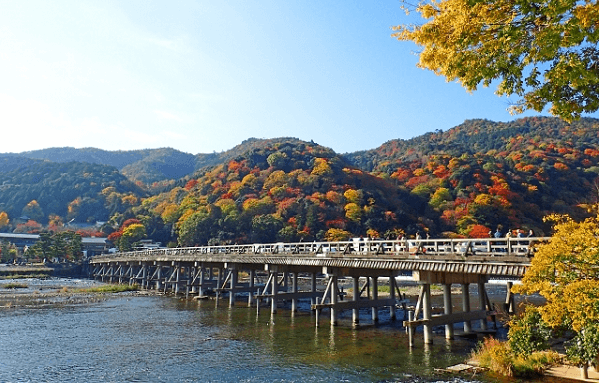 Togetsu Bridge in Japan