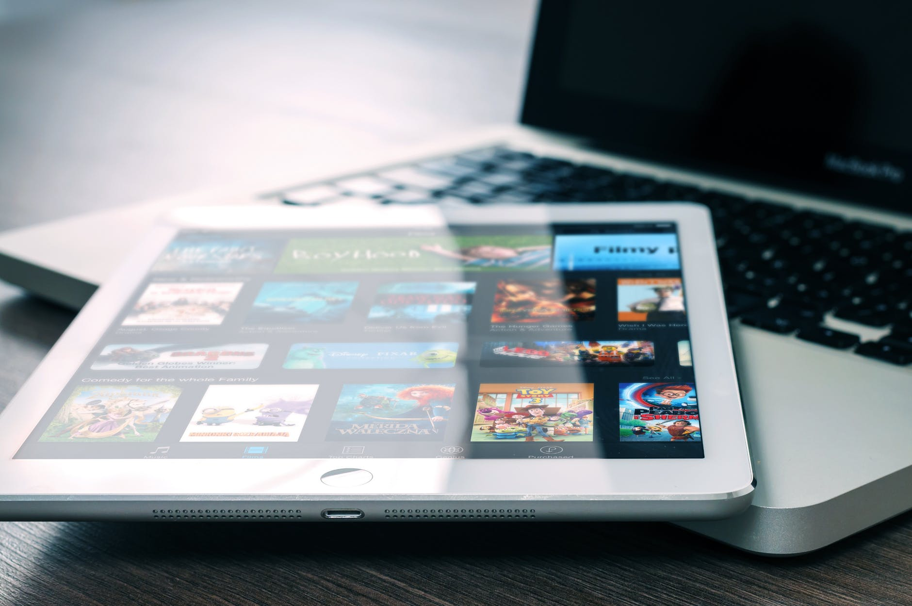app entertainment ipad mockup